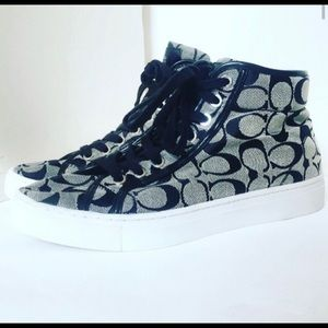 COACH High Top Sneakers Size 9.5B